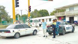 Aparatoso accidente; dos menores heridos