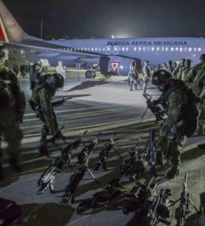 Refuerzan a Culiacán 230 militares de élite