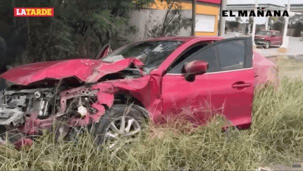 Brutal accidente por alcance; 4 lesionados