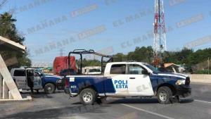 Responden con retén de Estatales a ola de robos y asaltos