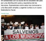 Se solidariza Gobernador con alcaldes municipales