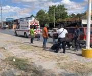 Choque carretera a San Fernando