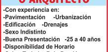 EMPRESA CONSTRUCTORA, SOLICITA: