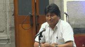 Primera conferencia de Evo Morales en México