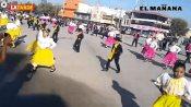 Desfilan en 109 aniversario de la Revolución Mexicana en Río Bravo