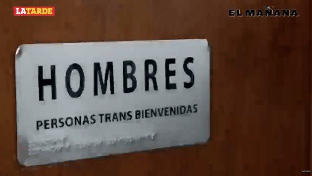 Como parte de una campaña de inclusión INE cambia letreros de baños