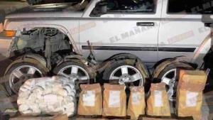 Suman 120 kilos de droga lo decomisado