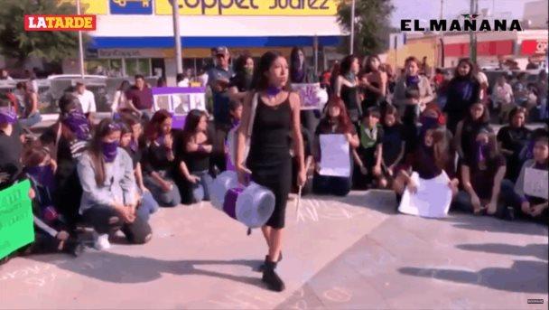 """""""El violador eres tú """"; performance en Reynosa"""