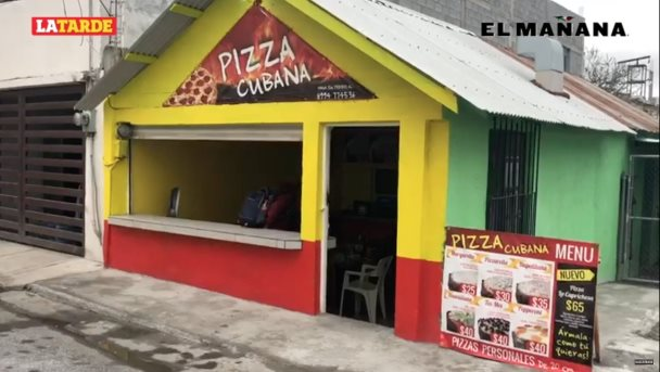 Prospera negocio de pizzas cubanas
