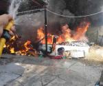 Reportan voraz incendio en Lucio Blanco