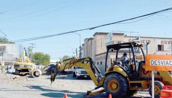 Caos en el centro por obras viales