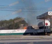 Fuerte explosión en estación de gas en Reynosa