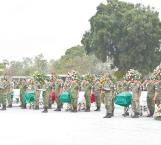 Despiden con honores a militares
