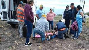 Familia herida en accidente vial