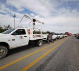 Cumplen campesinos amenaza bloquean carretera federal
