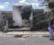 Incendio en casa abandonada de colonia Puerta Sur