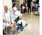 Negligentemente dan atención a pacientes en el suelo en el ISSSTE de Hidalgo