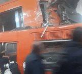 Chocan trenes del metro Tacubaya; hay un muerto y 41 heridos