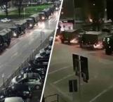 Llevan a cremar muertos por Covid-19 en camiones del ejército en Italia