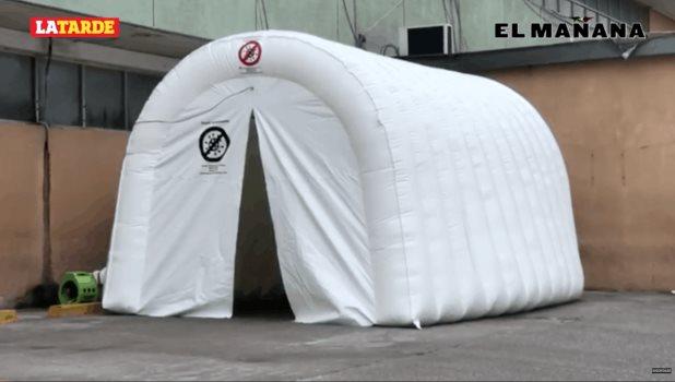 Instalan primer túnel sanitizante