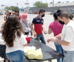 Entregan comida a grupos vulnerables