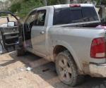 Enfrentamiento deja aseguramiento de dos vehículos y armamento
