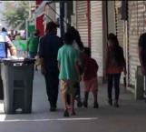 Salen reynosenses a las calles de paseo y compras