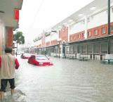 Alcanza un metro inundación