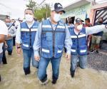 Recorre Gobernador la zona de desastre