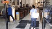 """Fijan guardias """"sanitarias"""" a la entrada del templo Nuestra Señora de Guadalupe"""