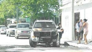 Vehículo dañado por cortocircuito
