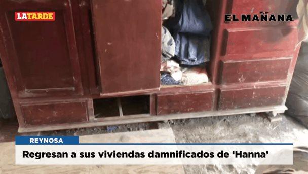 Regresan a sus viviendas damnificados de 'Hanna'