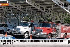 Protección Civil sigue el desarrollo de la depresión tropical 22