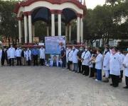 Rinden homenaje a médicos caídos por Covid en Matamoros