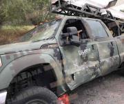 Se impacta contra camión del Ejército