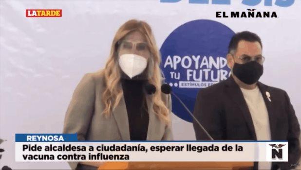 Pide alcaldesa a ciudadanía, esperarllegada de la vacuna contra influenza