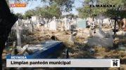 Limpian y desmontan panteón municipal