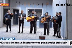 Músicos dejan sus instrumentos para poder subsistir