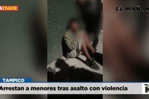 Arrestan a menores tras asalto con violencia