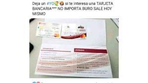 Intentan fraude con tarjeta del Bienestar