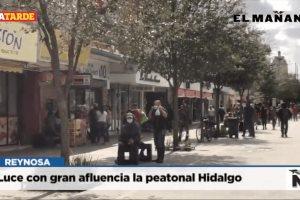 Luce con gran afluencia la peatonal Hidalgo