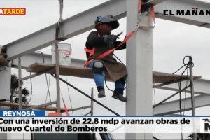 Con una inversión de 22.8 mdp avanzan obras de nuevo Cuartel de Bomberos