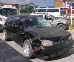 Lesiona a tres de familia en colisión vehicular