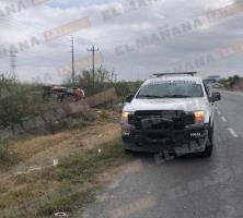 Volcadura deja saldo de tres heridos