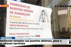 Mantienen templos sus puertas abiertas, pese a no ofrecer servicios