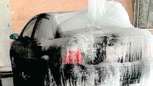 Impactantes imágenes de la nevada en Texas
