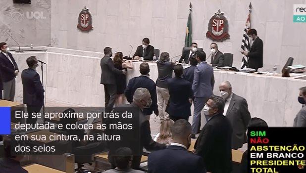 Suspenden a diputado por tocar a una legisladora sin su consentimiento