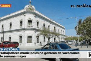 Trabajadores municipales no gozarán de vacaciones de semana mayor