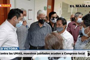 Contra las UMAS, maestros jubilados acuden a Congreso local