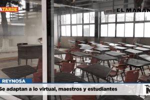 Se adaptan a lo virtual, maestros y estudiantes